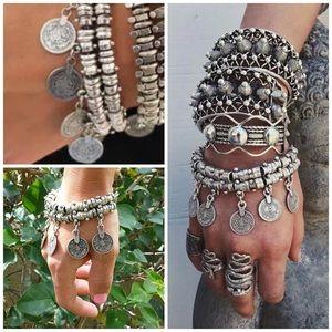 ✨New! Silver Boho Chic Charm Bracelet